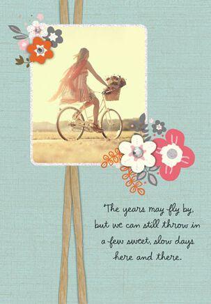 Sweet, Slow Feminine Birthday Card