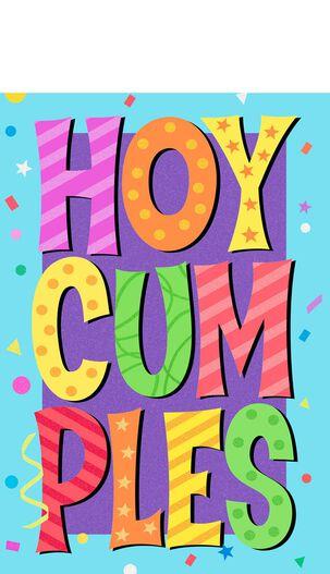 Balloons and Cake Spanish-Language Pop-Up Birthday Card