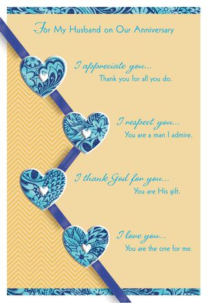 I Am Loved Anniversary Card for Husband