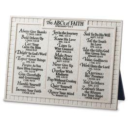 The ABC's of Faith Religious Stone Plaque, , large
