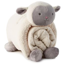 Lamb Pillow and Blanket Set, , large
