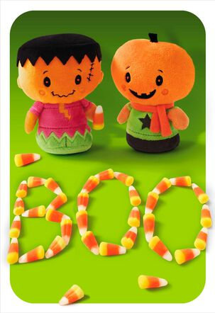 Candy Corn Boo Halloween Card