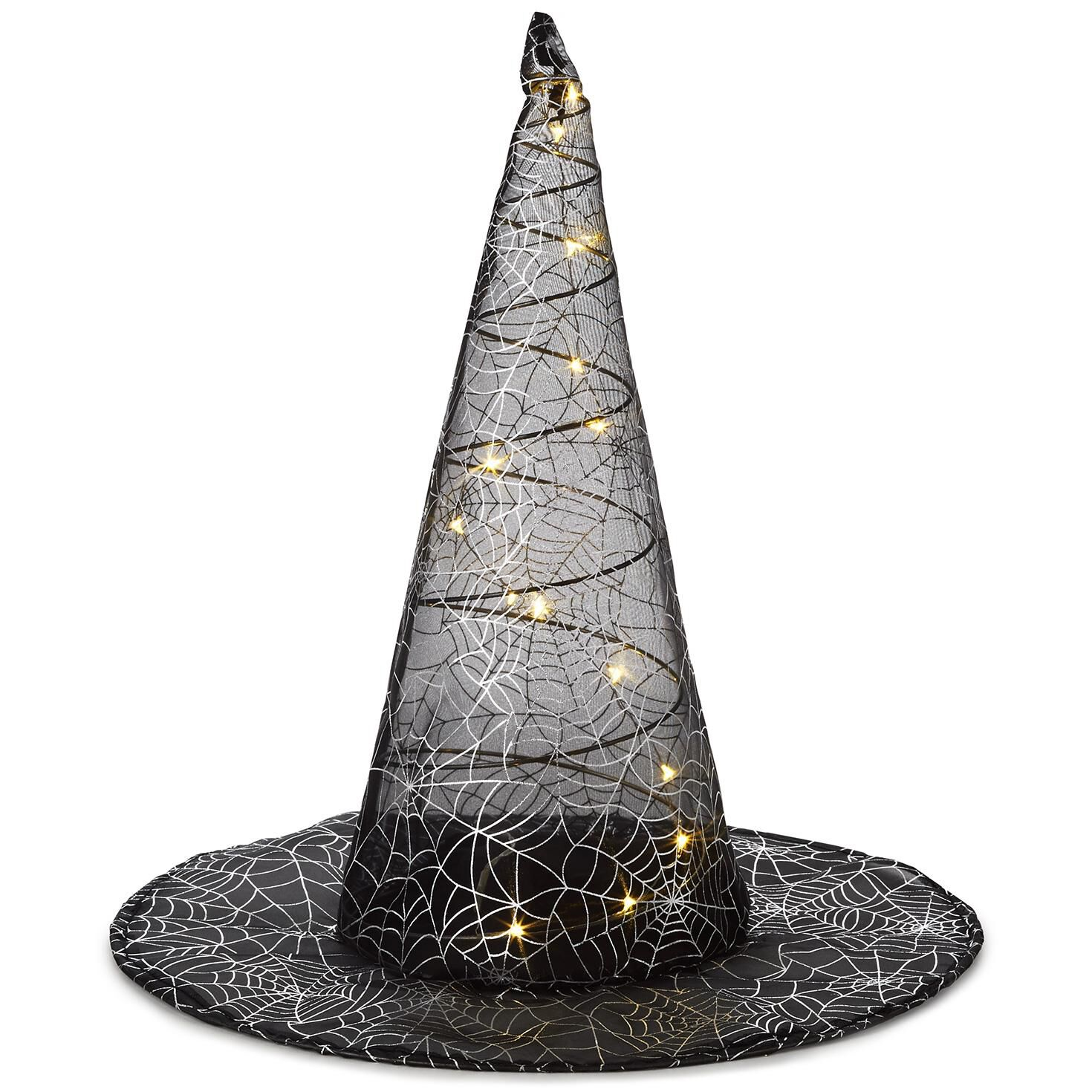 lighted witch hat decoration decorative accessories hallmark