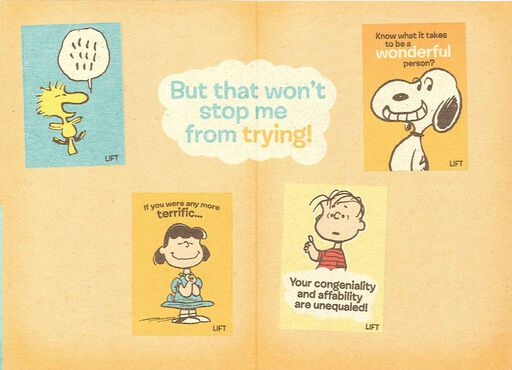 Peanuts gifts cards ornaments hallmark charlie brown and the peanuts gang birthday card bookmarktalkfo Gallery