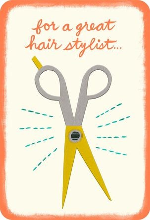 A Cut Above the Rest Hairdresser Thank You Card