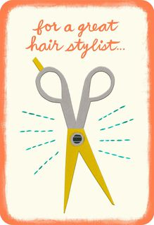 A Cut Above the Rest Hairdresser Thank You Card,