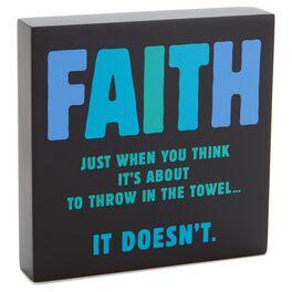 Faith Sentiment Wood Plaque, , large
