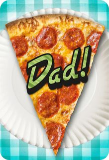 Pizza Musical Father's Day Card,