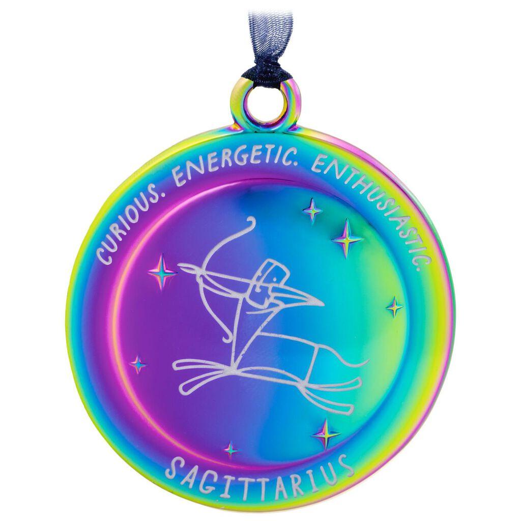 71cce4fd5 Sagittarius The Star You Are Zodiac Metal Ornament - Gift Ornaments ...