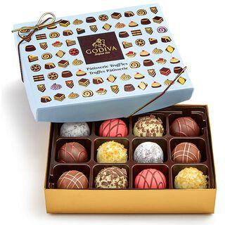 Godiva Assorted Pâtisserie Dessert Truffles in Gift Box, 12 Pieces,