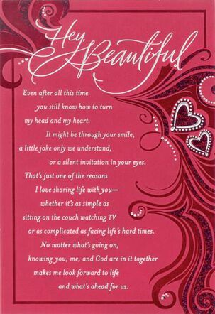 Beautiful Wife Religious Valentine's Day Card