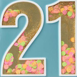 21 Amazing Years Birthday Card