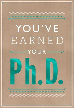 Ph.D. Graduation Card