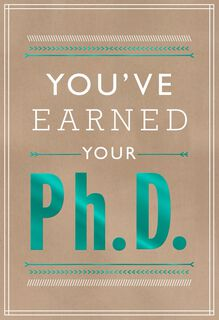 Ph.D. Graduation Card,