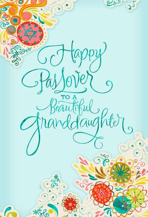 Beautiful Granddaughter Passover Card