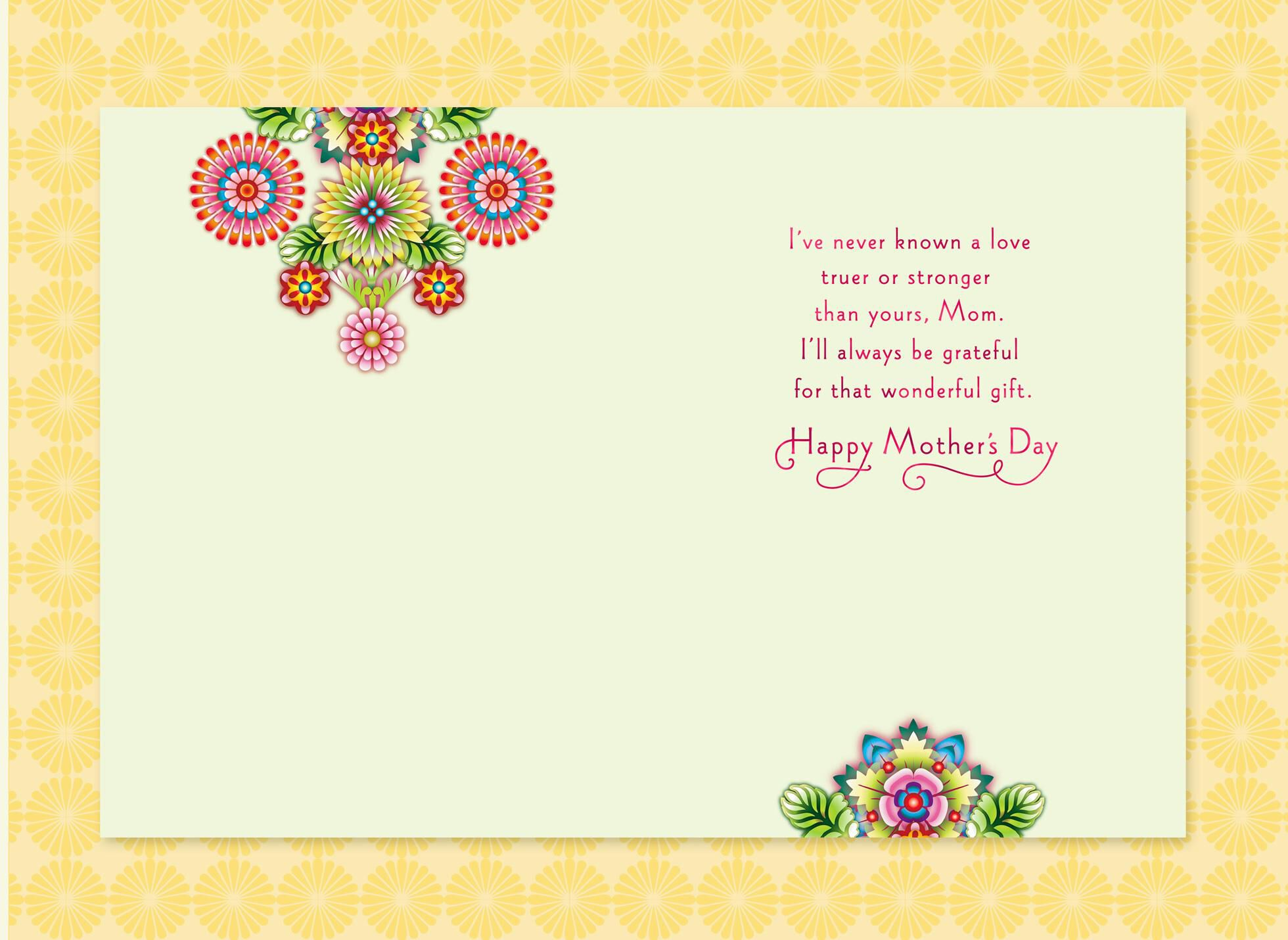 Catalina estrada yellow bird and flowers mother 39 s day card Hallmark flowers