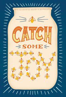 Catch Some Joy Fireflies Blank Card,