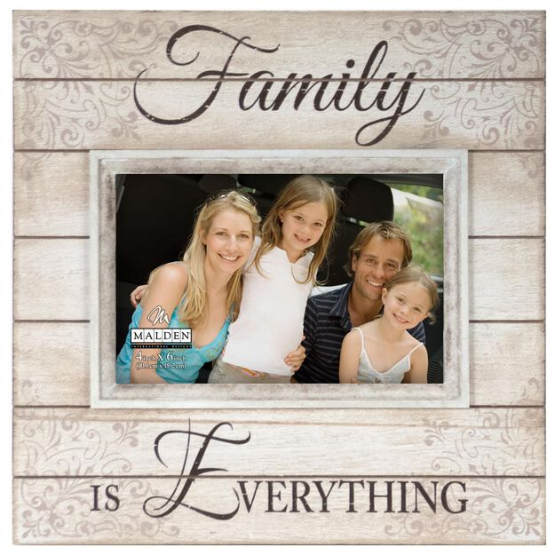 Malden Family is Everything Sunwashed Wood Photo Frame, 4x6