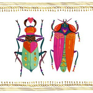 The One You Love Beetles Love Card