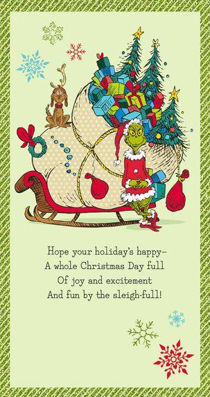 Dr. Seuss's How the Grinch Stole Christmas!™ Money Holder Christmas Card