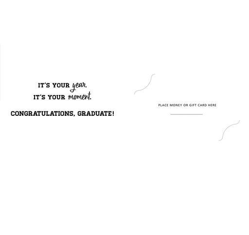 Gold Foil 2018 Money Holder Graduation Card, Pack of 10,
