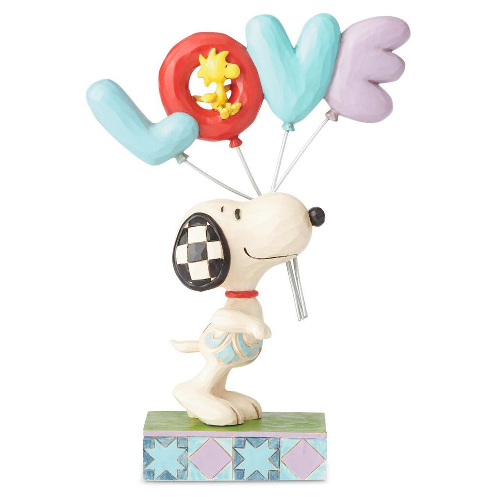 "Jim Shore Peanuts Snoopy Love Balloons Figurine, 7.5"""