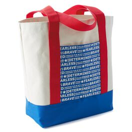 American Words Canvas Tote Bag, , large