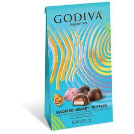 Godiva Assorted Dessert Truffles in Spring Gift Bag, 4.25 oz., , large
