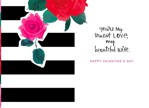 Beautiful Floral Valentine's Day Card for Wife,