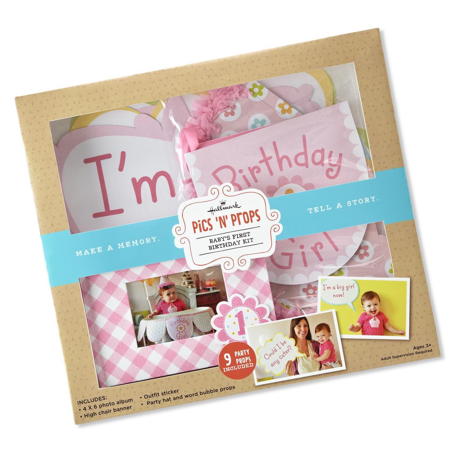 Babys First Birthday Photo Album Girl Brag Book Grandparent Gift Jpg 1470x1470 Baby