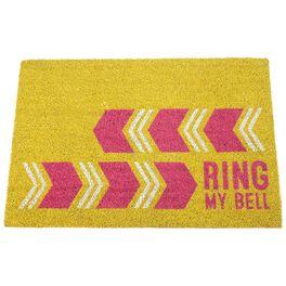 Ring My Bell Coir Door Mat, , large
