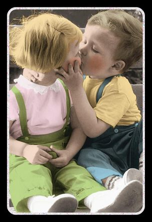 Kissing Kids Love Card