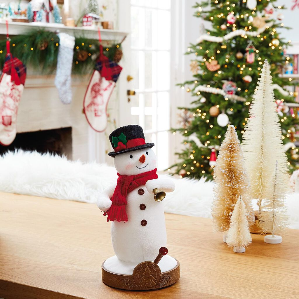musical tree lighting snowman and receiver