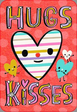 Hugs and Kisses Valentine's Day Card