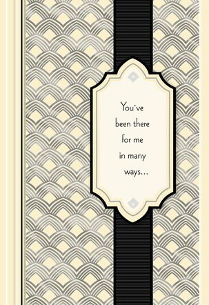 Art Deco Thank You Card for Best Man