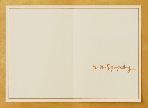 The Spirit Echoes Still Sympathy Card,