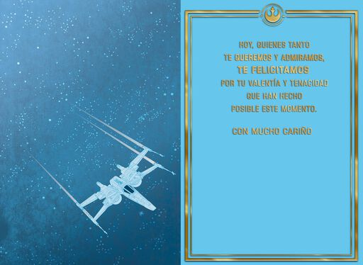 Star Wars™ Resistance Group Spanish-Language Graduation Card,