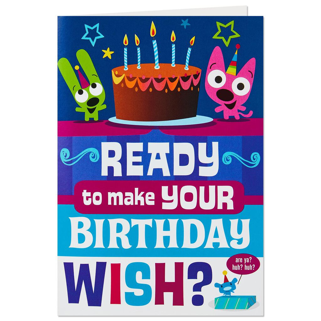 HoopsyoyoTM Shooting Stars Birthday Card With Lights And Sound