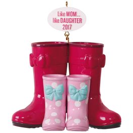 Winter Boots Like Mom, Like Daughter Ornament, , large
