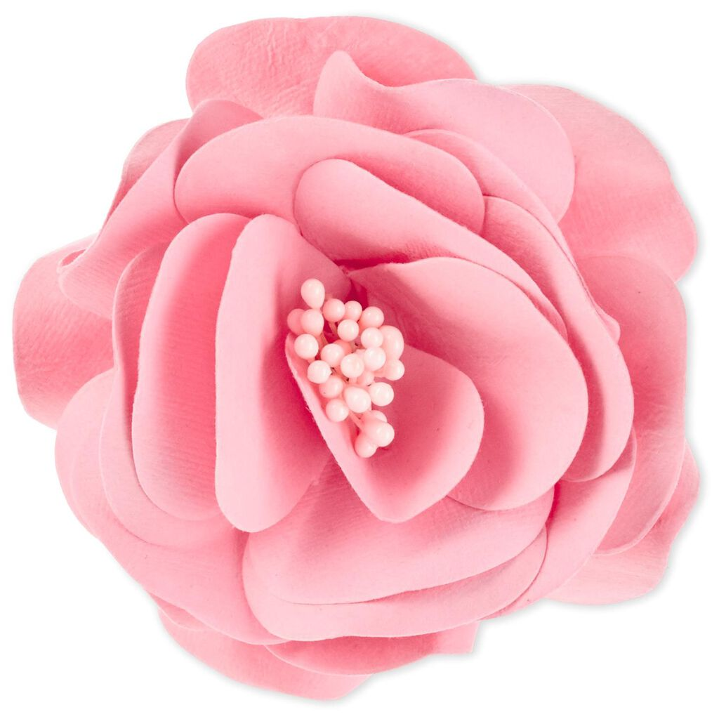 Pink Handmade Paper Flower Gift Trim 38 Seals And Gift Tags