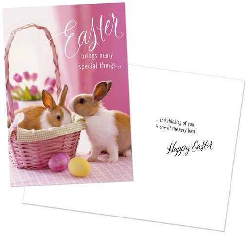 Bunnies Flowers Chicks Easter Cards Pack Of 8