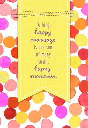 Wishes for a Long, Happy Marriage Anniversary Card