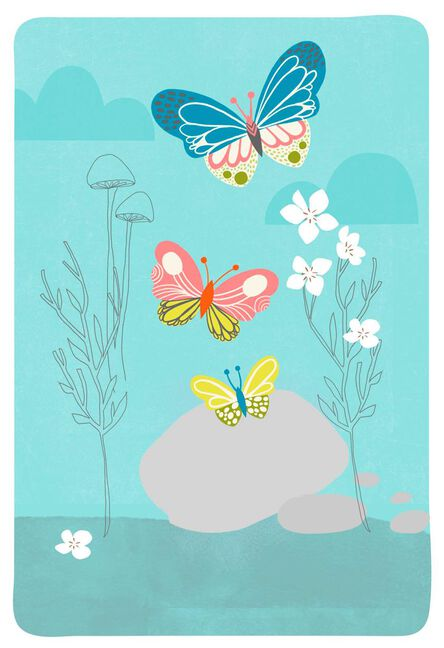 Butterflies and pebbles blank card greeting cards hallmark butterflies and pebbles blank card m4hsunfo