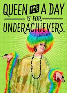 Drag Queen for a Day Blank Card,
