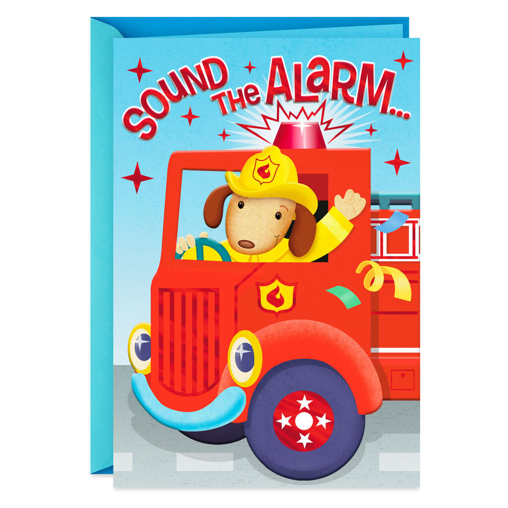 Sound The Alarm Birthday Card