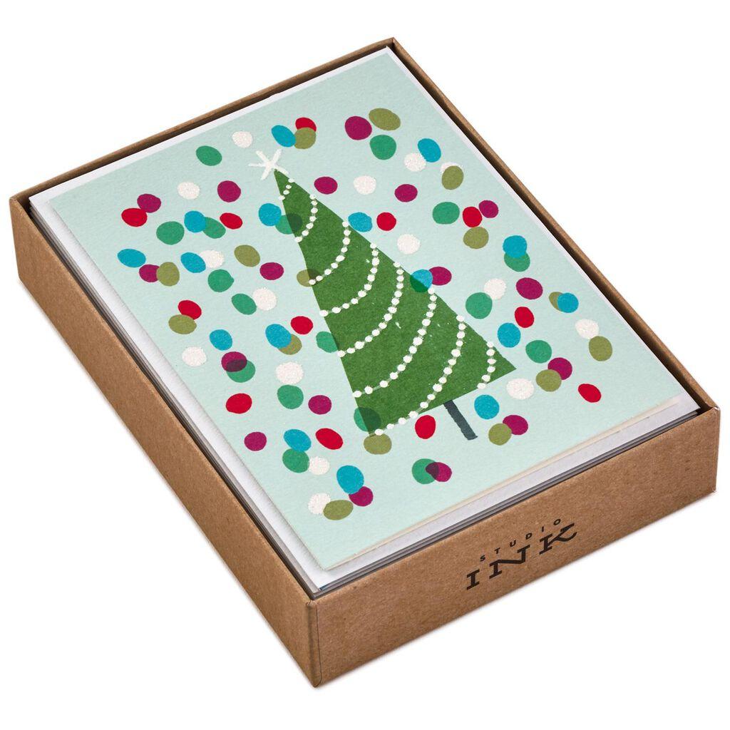 Joyful Christmas Tree Christmas Cards, Box of 12 - Boxed Cards ...