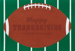 Food, Family, Football Thanksgiving Card,