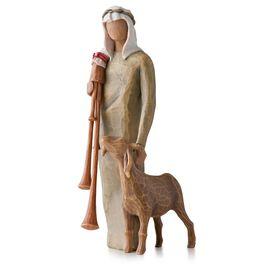 Willow Tree® Zampognaro Shepherd with Bagpipe Nativity Figurine, , large