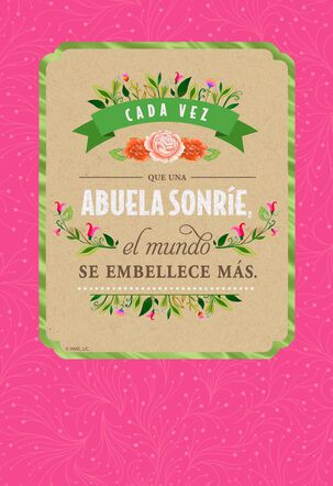Grandma Spanish-Language Mother's Day Card With Magnet