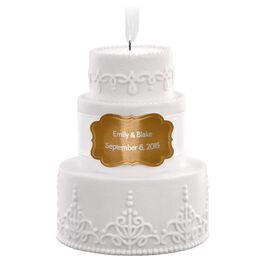 Wedding Cake Personalized Ornament, , large